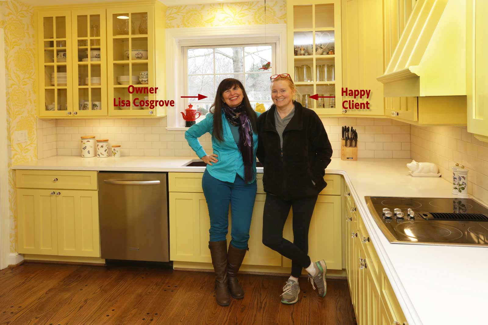 Lisa Cosgrove and a Client